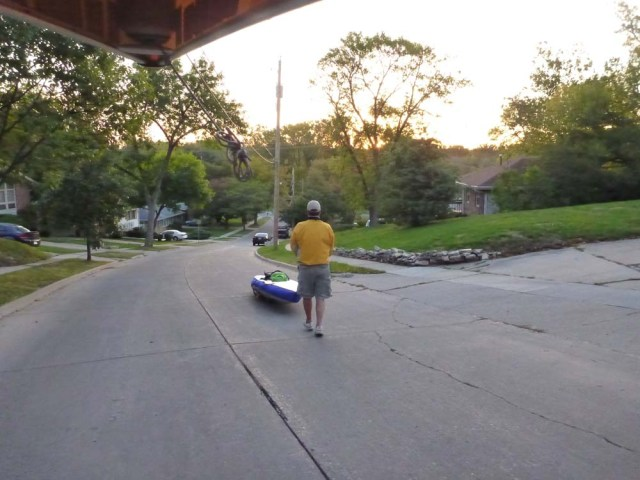 Letting the SUP walk me down the hill