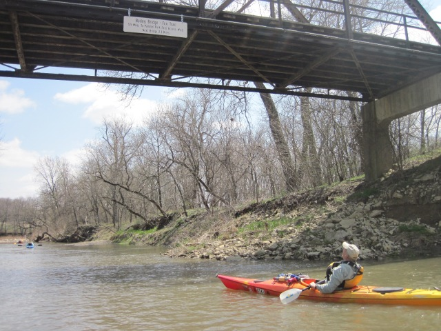 Gary using the Water Trail bridge signs